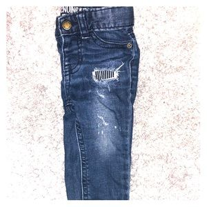 Distressed 12 month jeans. Genuine kids brand.